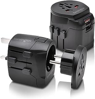 Kensington International Travel Adapter with 2.4 Amp Dual USB Ports (K33998WW) Black Black 3 Prong
