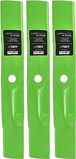 8TEN LawnRAZOR Hi Lift Blade for John Deere 48 inch Deck X300 X304 X320 GX255 GX325 M145476 M127500 M127673 3 Pack