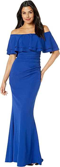 fc5ee29ae Vince Camuto. Off the Shoulder Gown with Ruffle at the Side. $151.28MSRP:  $248.00. Royal