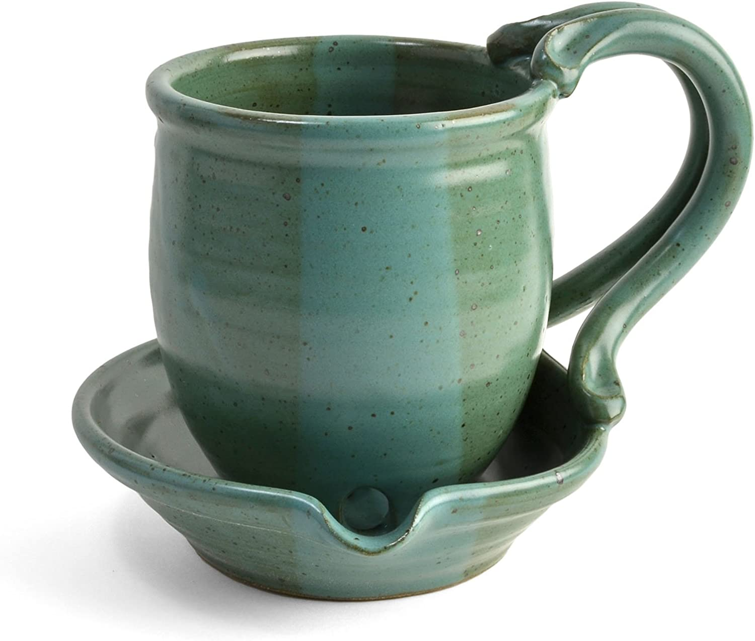 Anthony Stoneware Microwave Bacon Cooker, Teal Green