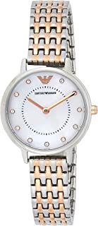 Emporio Armani Womens Quartz Watch, Analog Display and Stainless Steel Strap AR11094