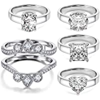 5-Pieces Hiyong 18K White Gold Plated Ring Enhancer Guard Sent Rings