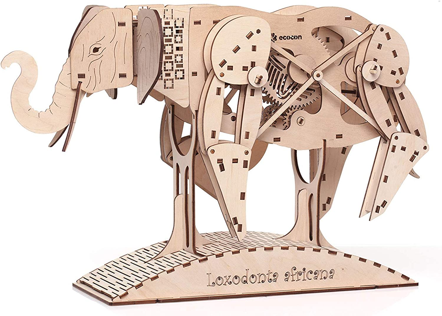 ECOCON African Elephant Animate Mechanical Models 3D Puzzle B07HGPZL4N Viele Stile  | Quality First