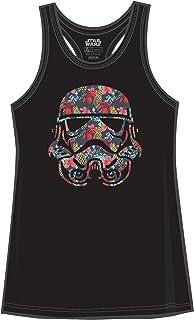 STAR WARS Stormtrooper Storm Trooper Tropical Floral Funny Humor Pun Juniors Tank Top Tanktop Slim Fit Adult Graphic Tee T...