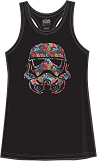 Stormtrooper Storm Trooper Tropical Floral Funny Humor Pun Juniors Tank Top Tanktop Slim Fit Adult Graphic Tee T-Shirt