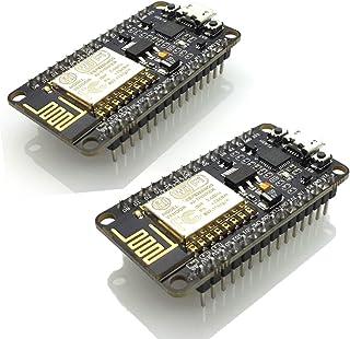 HiLetgo 2pcs ESP8266 NodeMCU LUA CP2102 ESP-12E Internet WiFi Development Board Open Source Serial Wireless Module Works Great with Arduino IDE/Micropython (Pack of 2PCS)