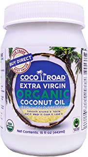 Coco Road Organic & Fair Trade Virgin Coconut Oil (15 Fl Oz)