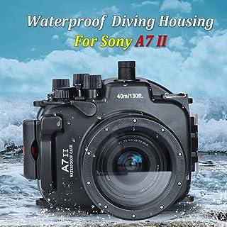 Sea Frogs SONY A7II A7R II A7S II [ILCE-7M2/7RM2/7SM2]用 水中 ダイビング カメラケース アンダーウォーターハウジング 防水性能40m 防水プロテクター アルミニウム 防水ケース 防水ハウジング 保護ケース 防水プロテクター 水中撮影用 国際防水等級IPX8