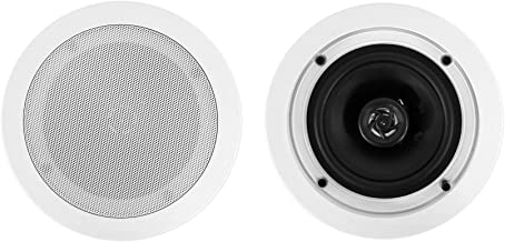 "Best 2 Rockville CC525T White 5.25"" Commercial 70v Ceiling Speakers for Restaurant Review"