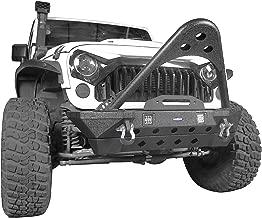 Hooke Road Jeep Stinger Bumper, Aggressive Bull Bar Front Bumper w/LED Lights for Jeep Wrangler JK 2007-2018