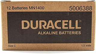 Long Lasting Power Duracell Alkaline C Battery 12 Pack, (03983)