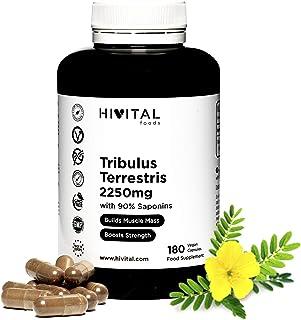 Tribulus Terrestris 2250 mg | 180 vegane Kapseln | 100% natürlich mit 90% Saponinen |..