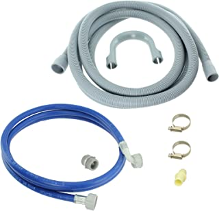 Spares2go Water Fill Pipe & Drain Hose Kit For Belling Dishwasher (2.5M)