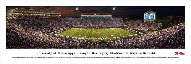 Ole Miss Rebel Football - 50 Yard Line at Vaught-Hemingway Stadium - Blakeway Panoramas Print