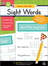 Carson Dellosa – Sight Words Activity Book for PK, K, 1st, 2nd Grade, Paperback, 128 Pages, Ages 4+ (Trace with Me)