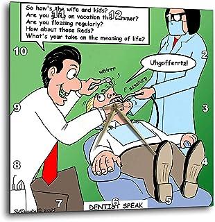 "3dRose dpp_2763_1 Dentist Speak Wall Clock, 10 by 10"""