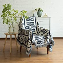 Knit Blankets Bohemian Geometric Pattern Thread Blanket with Tassel Sofa Decorative Throws Blanket Travel Portable Blanket