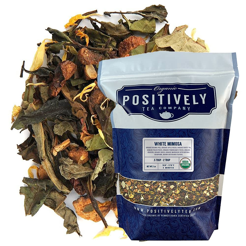 Organic Positively Tea Company Mimosa Le Max Ranking TOP9 75% OFF Loose White