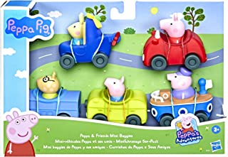 Peppa Pig Peppa's Adventures Peppa and Friends Mini Buggies Preschool Toy, 5 Vehicles, Ages 3 and Up, multicolour, F25155L0