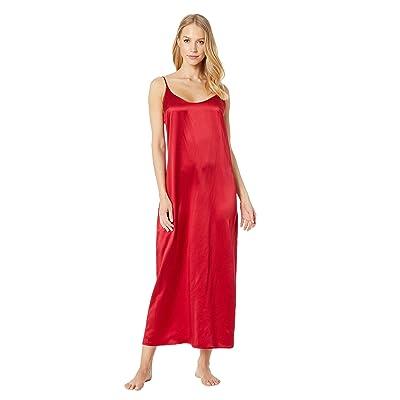 La Perla Silk Night Gown (Carminium Red) Women