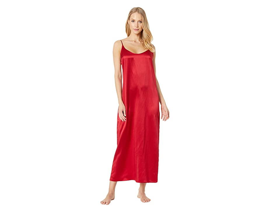 La Perla Silk Night Gown (Carminium Red) Women