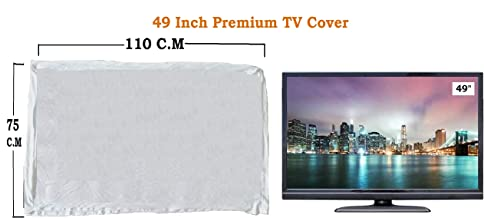 "LED Tv Covr 49"" Master Piece LED/LCD T.v Cover White….by Woolf"