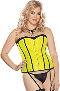 Dreamgirl Women's Plus Size Fully Reversible Corset