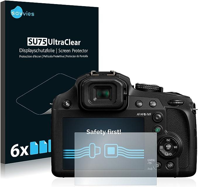 savvies Protector Pantalla Compatible con Panasonic Lumix DC-FZ82 (6 Unidades) Pelicula Ultra Transparente