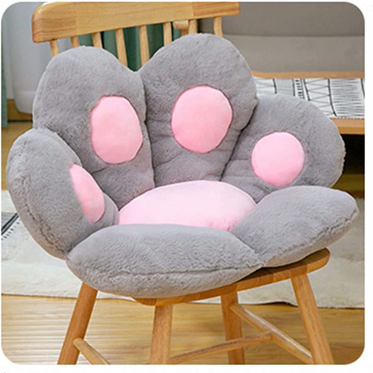 Cute Cat Paw Shaped Ranking TOP1 Papasan Seat Safety and trust Plush Chair Cushion Pads Soft