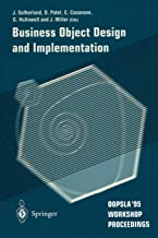 Business Object Design and Implementation: OOPSLA'95 Workshop Proceedings