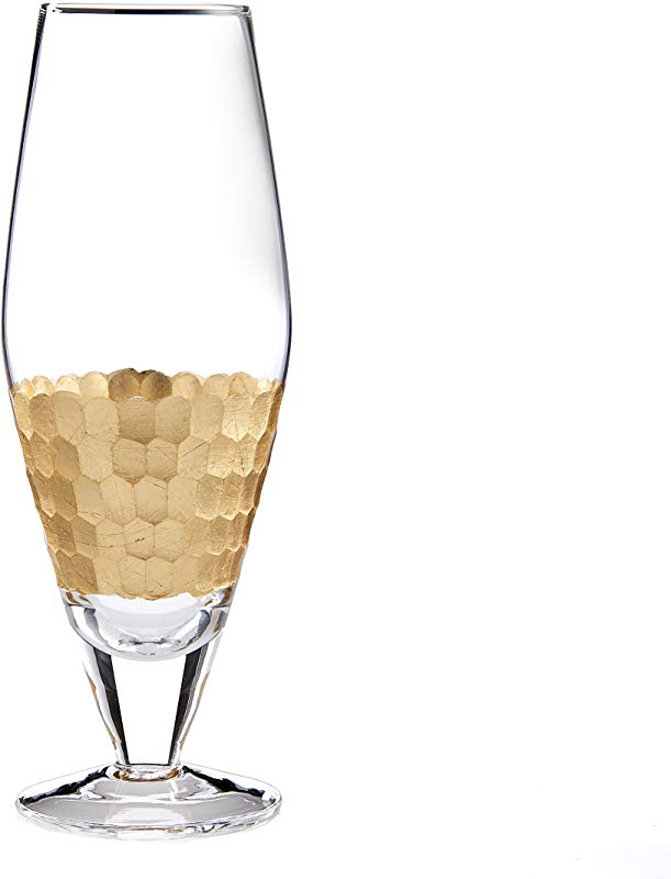Fitz And Floyd 229705 4PW Daphne Wine Glasses Gold