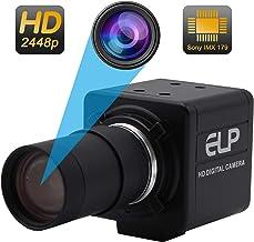 5-50mm Varifocal Lens USB Camera High Definition 2448P Webcam Sony IMX179 USB with Cameras,Indoor Outdoor Webcamera,8 Mega...