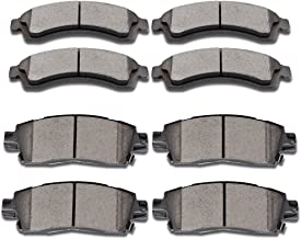 SCITOO Brake Pads, 8pcs Ceramic Disc Brake Pad Kit fit Buick Rainier,Chevrolet SSR Trailblazer Trailblazer EXT,GMC Envoy Envoy XL Envoy XUV,Isuzu Ascender,Oldsmobile Bravada,Saab 9-7x