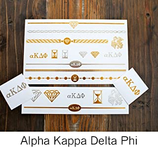 Alpha Kappa Delta Phi Pack Temporary Tattoos | Skin Safe | MADE IN THE USA| Removable