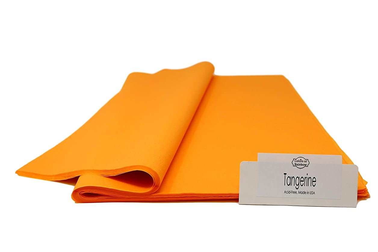 Tangerine - 120 Sheets Gift Wrapping Tissue Paper Premium Quality Made in USA | Colors of Rainbow yvktscnntxjyjzgh
