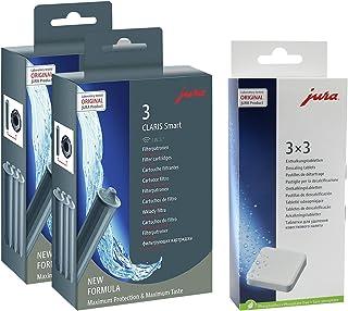 Jura 71794+ 61848Pack de, Claris Cartouche filtre Smart (2x Pack de 3) + 3tablettes détartrantes