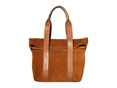 Shinola Detroit Cass Tote Suede/Nappa (Cognac) Handbags