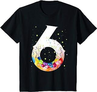 Enfant 6 fille d'un an cadeau drôle shirt 6er garçon d'anniversaire T-Shirt
