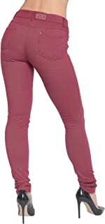 a90c9e3e0ecea4 Made By Malaika® Ladies Skinny Fit Coloured Jeggings New Womens Stretch  Denim Pants High Wasted