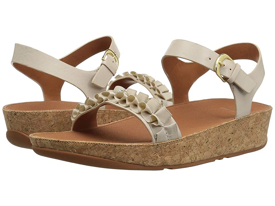 FitFlop Ruffle Back-Strap Sandals (Cream) Women