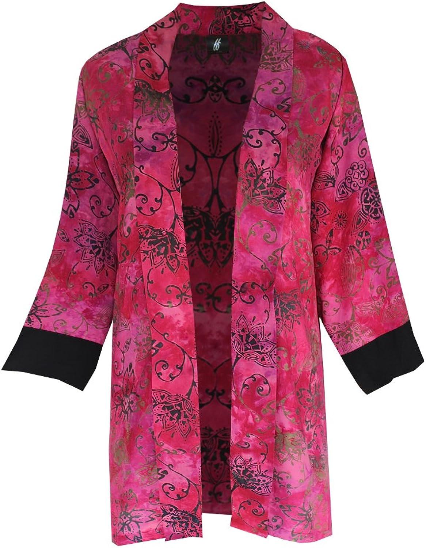 Fashion Fulfillment Plus Size Tunic Cardigan   Women's Handmade Boho Jacket, One Size Plus (1X3X)