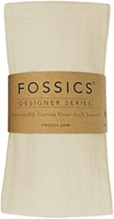FOSSICS Flour Sack Kitchen Dish Towels Woven from 100% Responsibly-Farmed Natural Cotton for Drying Dishes, Stemware, Glas...
