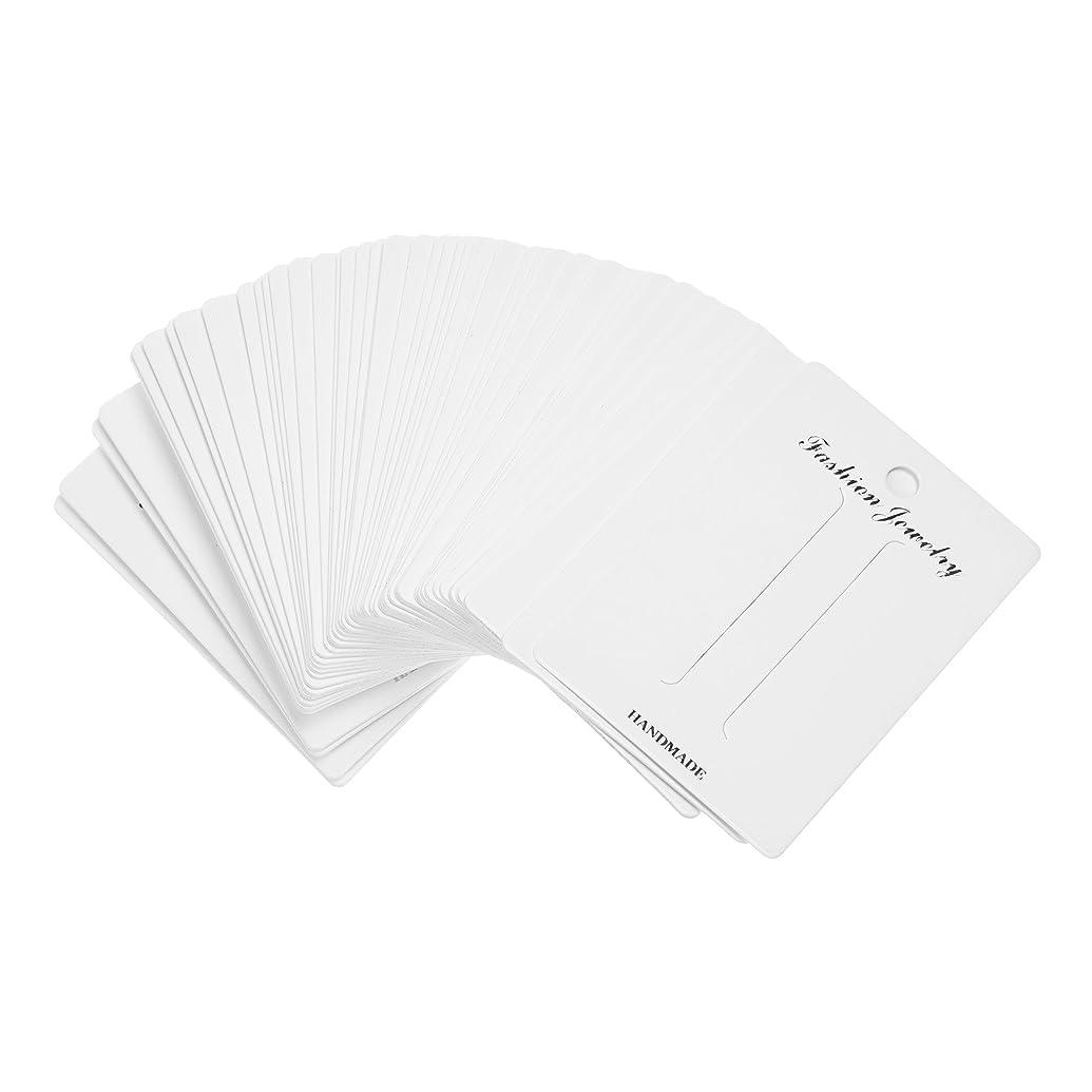 BCP 100pcs White Color Rectangular Paper Hair Clip Hair Bows Display Cards