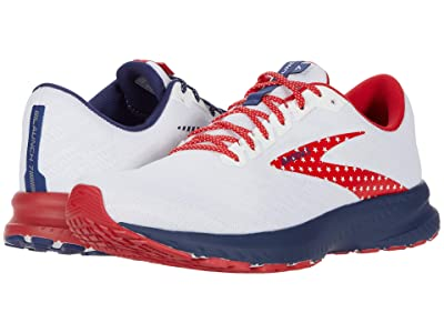 Brooks Launch 7 (White/Blue/Red) Women