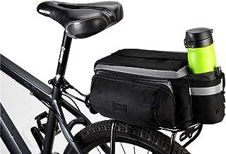 traderplus Bike Pannier Bag - Durable & Waterproof Nylon with Reflector Handbag | Shoulder Strap Rack Rear Trunk Tote Bag ...