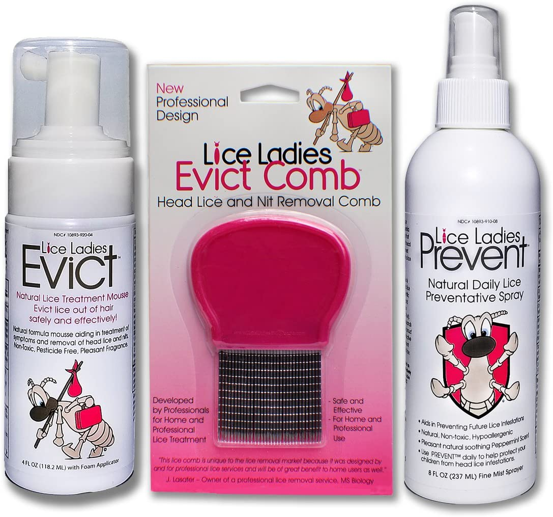 Lice List price Ladies Treatment 3pack Combo Kit EVICT Mo 3 OFFicial mail order Product