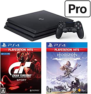 PlayStation 4 Pro + グランツーリスモSPORT + Horizon Zero Dawn Complete Edition セット (ジェット・ブラック) (CUH-7200BB01)【特典】オリジナルカスタムテーマ(配信)