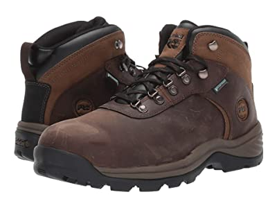 Timberland PRO Flume Mid Work Steel Safety Toe Waterproof (Brown Nubuck Leather) Men