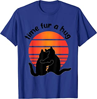 Funny Cute Time Fur A Hug Cat Party Tee Men Women Kids T-Shirt