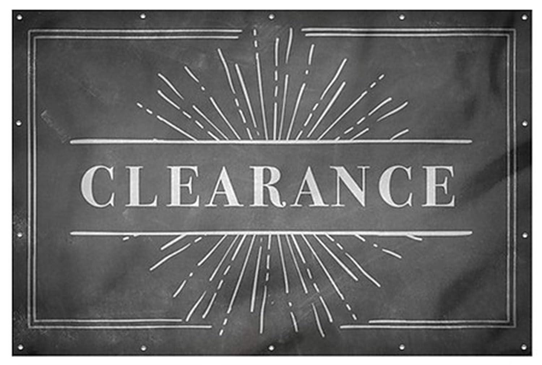 CGSignLab Chalk Burst Wind-Resistant Outdoor Mesh Vinyl Banner 12x8 Clearance